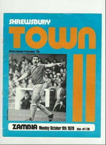 Shrewsbury Town take on Zambia at Gay Meadow