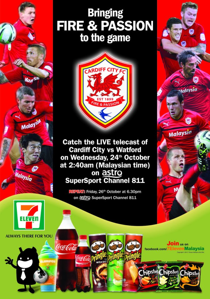 Cardiff City turn their back on south Wales based supporters in favour of advertising to Malaysian insomniacs.